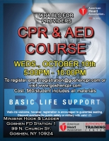 AHA BLS for Providers - October 10th