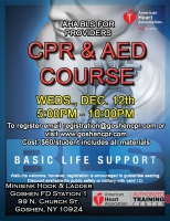 AHA BLS for Providers - December 12th