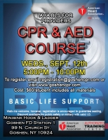 AHA BLS for Providers - September 12th