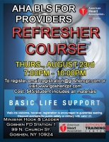 AHA BLS for Providers Recertification - August 23rd
