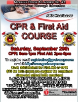 AHA Heartsaver CPR/First Aid - September 29th