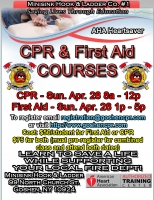 AHA Heartsaver CPR/AED & First Aid - April 28th