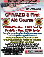 AHA Heartsaver CPR/AED & First Aid - December 29th