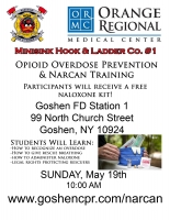 Opioid Overdose Rescue & Narcan - May 19th 11:30am Slot